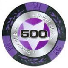 ФИШКИ ДЛЯ ИГРЫ В ПОКЕР BLACK STARS НОМИНАЛОМ 500 (25ШТ)