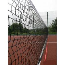 Сетка волейбольная, Д 3,1 мм, черная, парашютная стропа, обшитая с 4-х сторон