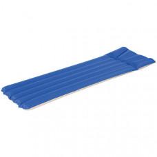 Bestway 67014B Матрас ткань/ПВХ, 2х камерный, 193х76 см (сине-красный)