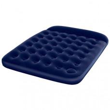 Bestway 67226N Кровать флок 203х152х22см (синяя), встр. Ножной насос