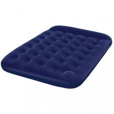 Bestway 67225 Кровать флок 191х137х22см (синяя), встр.ножной насос