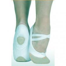 Балетки (тканевые+кожанный носок)  (белые)      р.25
