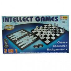 F04538/№1188 Набор 3 в 1 (шашки, шахматы, нарды) Материал:пластик,р-р доски 31х31см