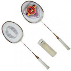 F04547 Набор для бадминтона (2 ракетки+5 волан перо)