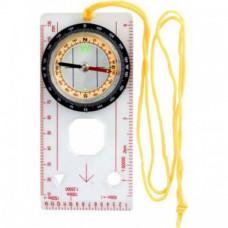 F04600 Компас пластмассовый с линейкой и линзой на шнурке