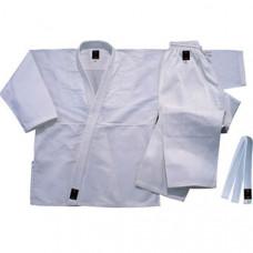 """WJU-14 р.4/170  Кимоно дзюдо """"WMA"""" (комплект) (Материал/состав: Куртка плетеная хлопок-100% , плотность 440 гр/м2., Штаны: хлопок 100%, с усиленными коленями, пояс штанов на веревке.  Белый пояс на талию. рекомендуемая температура стирки: t +30"""