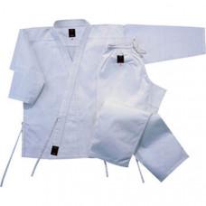 """WKU-61 р.3/160  Кимоно каратэ """"WMA"""" (комплект) (Материал/состав: Куртка хлопок-100% , вес 7,5 унций., Штаны: хлопок 100%, пояс штанов на веревке.  Белый пояс на талию. рекомендуемая температура стирки: t +30 С)"""