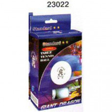 "23022 шарики для н/т ""Giant Dragon"" 2 звезды (Шариков - 6 шт. белые / 40мм. Серия Advance. Упаковка Цветная коробка)"