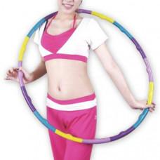 HKHL 109 Обруч гимнастический  детский 80 см. (цветной, собирается из 16 секций, подарочная упаковка, Материал - полипропилен)