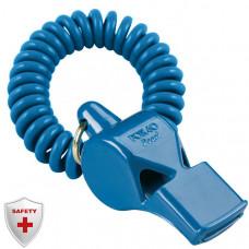 """9702-0505 """"FOX 40"""" Pearl. Свисток для спасателей. Без шарика. Крепление flex браслет. Синий. Звук - 90 дб."""