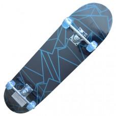 """P312-4 Скейтборд 31*8"""" (Размер дэки 31*8 дюймов, 9-ти слойный клен, Форм-фактор -""""Double kick""""; Подвеска - 5-ти дюймовое полностью алюминиевое шасси;  Антискользящее покрытие """"80AB Grip tape""""; Колеса 50х30мм ПВХ"""