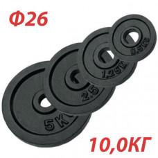 GBS14122 Блин крашеный (черный) (d 26 мм)  10,0 кг.