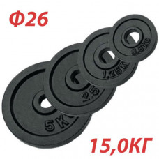 GBS14122 Блин крашеный (черный) (d 26 мм)  15,0 кг.