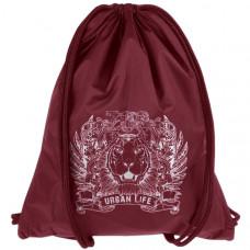 "Мешок-рюкзак ""Lion"" бордо (р-р 44х34 см)"