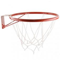 КБ№3-set Кольцо баскетбольное №3  д-295мм, труба 18мм, с сеткой и кронштейном, красное