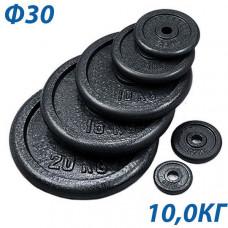 HKPL101 Блин крашеный черный (d 31 мм.) 10,0 кг.