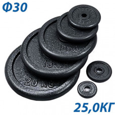 HKPL101 Блин крашеный черный (d 31 мм.) 25,0 кг.