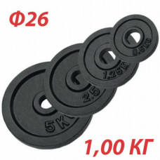 GBS14122 Блин крашеный (черный) (d 26 мм)  1,0 кг.