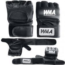 """WFFG-6014  р. S Перчатки для MMA """"WMA"""" (черные) (Материал: высококачественный ПУ+EVA, в подарочной упаковке)"""