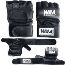 """WFFG-6014  р. M Перчатки для MMA """"WMA"""" (черные) (Материал: высококачественный ПУ+EVA, в подарочной упаковке)"""