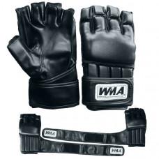 """WFF-351 р. L Перчатки для MMA """"WMA"""" (черные) (Материал: высококачественный ПУ+EVA, в подарочной упаковке)"""