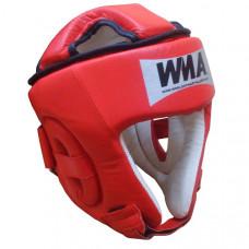 2492  р. XL  Шлем защитный бокс (Нат. Кожа) (красно/белый)