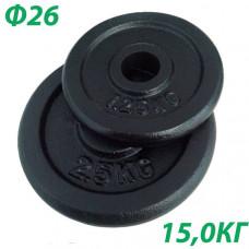 BHPL101-D26 Блин крашенный (черный) (d26мм)  15 кг.