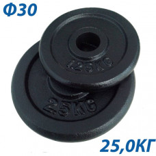 BHPL101-D30 Блин крашенный (черный) (d30мм)  25 кг.