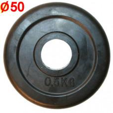 HKPL112 Блин обрезиненный (d 51 мм.)   0,5 кг.