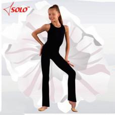 FD100-107 р.42 Классические брюки для хореографии и танцев (черные) (состав: 90% ХБ, 10% эластик)