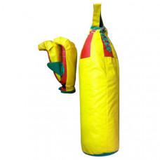 7042 ДНШ 3 Набор бокс детский  (3 предмета) груша+2 перчатки