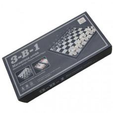 H10035 Набор игр 3 в 1 (шашки, шахматы, нарды) Материал:пластик,размер 25 см