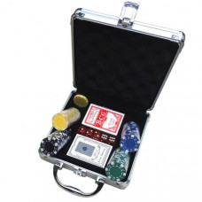 """H10040 Набор для игры в """"Покер"""" средний, в алюминиевом чемодане"""