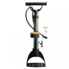 H10288 Насос с манометром механический ножной (Количество насадок в комплекте- 4 шт., используется для велосипеда, мячей, надувных изделий и автомобилей)