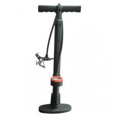 H10291 Насос с манометром механический ножной (Количество насадок в комплекте- 4 шт., используется для велосипеда, мячей, надувных изделий и автомобилей)