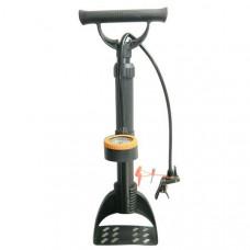 H10296 Насос с манометром механический ножной (Количество насадок в комплекте- 4 шт., используется для велосипеда, мячей, надувных изделий и автомобилей)