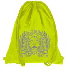 """Мешок-рюкзак """"Lion"""" салатовый Neon (р-р 44х34 см)"""