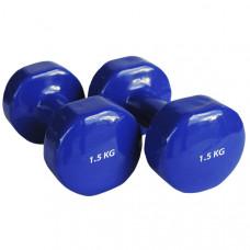 Hawk HKDB115-N Гантель виниловая 1,5 кг (синяя)