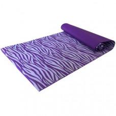 H10209-1 Коврик для йоги 173х61х0,3 см (фиолетовая зебра)
