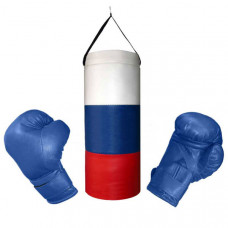 "BGS305 Набор боксерский XS детский ""Триколор"" (3 предмета) груша+2 перчатки"