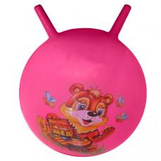 T07480 Мяч попрыгун с рожками 45 см (с рисунком)